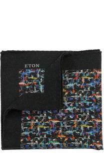 Шерстяной платок с принтом Eton