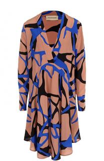 Шелковое мини-платье с принтом By Malene Birger