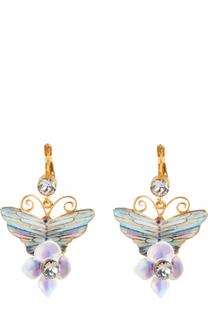 Серьги-клипсы с декором и кристаллами Swarovski Dolce & Gabbana