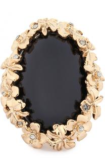 Кольцо с цветочным декором и кристаллами Swarovski Oscar de la Renta