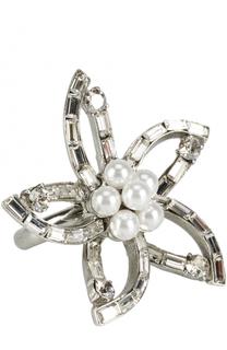 Кольцо с отделкой из жемчуга и кристаллов Swarovski Oscar de la Renta