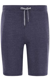 Хлопковые шорты с поясом на резинке Calvin Klein