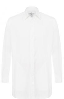 Хлопковая рубашка свободного кроя с разрезом на спине Yohji Yamamoto