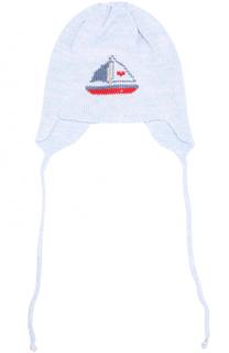 Вязаная шапка с принтом Il Trenino