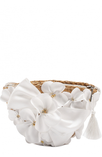 Плетеная сумка с декором David Charles