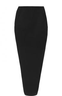 Облегающая юбка-макси с разрезом Rick Owens