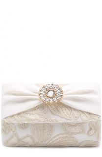 Клатч с вышивкой и кристаллами David Charles
