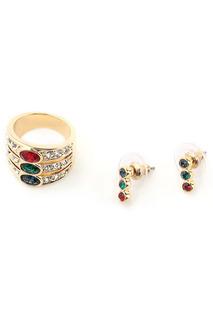 Набор: серьги, кольцо BIJOUX ANNABELLE