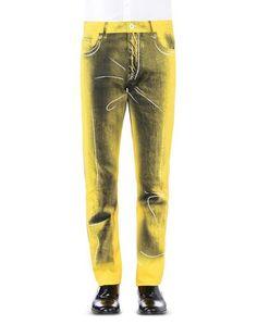 Джинсовые брюки Moschino Couture