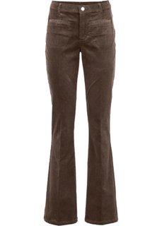 Вельветовые брюки (коричневый) Bonprix