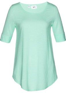 Удлиненная вискозная футболка (нежная мята) Bonprix