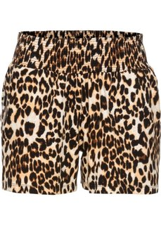 Шорты с принтом (леопардовый/коричневый) Bonprix