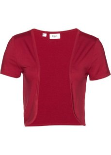 Трикотажный жакет болеро (темно-красный) Bonprix