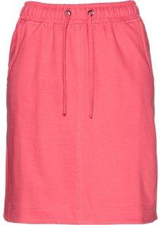 Трикотажная юбка (ярко-розовый) Bonprix
