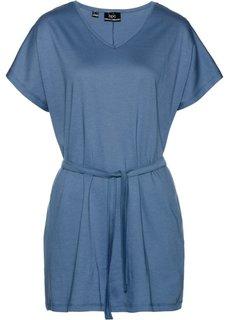 Трикотажная туника (синий джинсовый) Bonprix