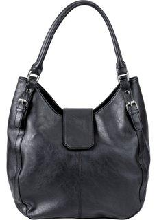Кожаная сумка (черный) Bonprix