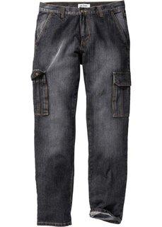 Классические джинсы карго, cредний рост (N) (черный) Bonprix