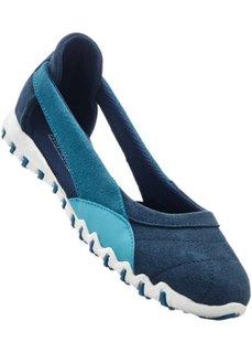 Спортивные кожаные балетки (темно-синий/бирюзовый) Bonprix