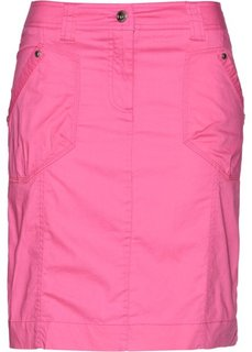 Юбка-стретч в стиле карго (ярко-розовый) Bonprix