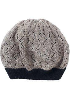 Вязаная шапка Миа (серо-коричневый) Bonprix