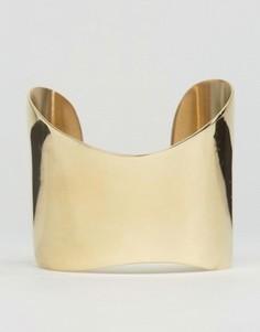 Золотистый браслет-манжета Made - Золотой