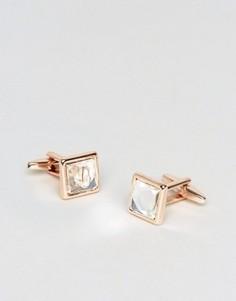 Розово-золотистые запонки с камнями DesignB эксклюзивно для ASOS - Золотой