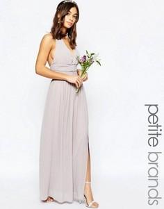 Шифоновое платье макси с халтером TFNC Petite WEDDING - Фиолетовый