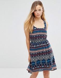Короткое приталенное платье без рукавов Only - Темно-синий