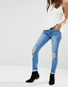 Рваные джинсы скинни Boohoo - Синий