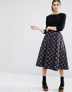 Пышная юбка миди Baum und Pferdgarten Sashenka - Темно-синий