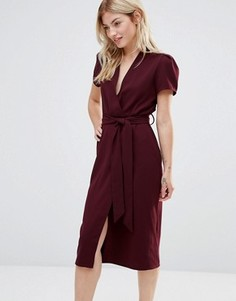 Платье миди с запахом Alter - Красный