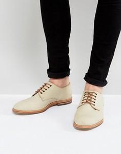 Парусиновые туфли на шнурках Hudson London - Бежевый