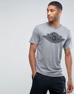Серая футболка с логотипом Nike Jordan 834476-091 - Серый