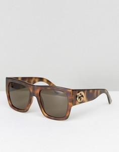 Квадратные солнцезащитные очки Gucci - Коричневый