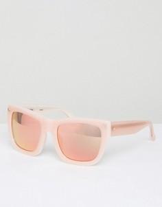 Квадратные солнцезащитные очки с зеркальными стеклами Matthew Williamson - Розовый