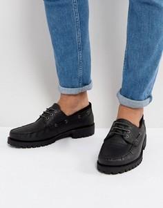 Черные кожаные мокасины ASOS - Черный