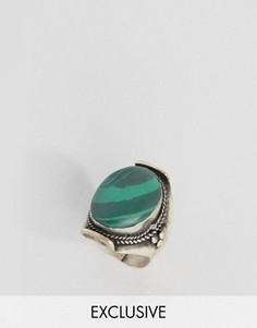 Кольцо с бирюзой Reclaimed Vintage Inspired - Серебряный