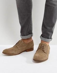 Замшевые туфли дерби с перфорированной отделкой ASOS - Светло-серый