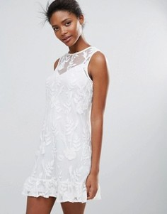 Кружевное цельнокройное платье Parisian - Белый
