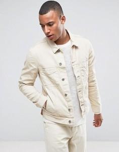 Белая джинсовая куртка с рваной отделкой Esprit - Белый