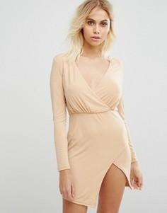 Асимметричное платье Glamorous - Коричневый