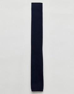Вязаный галстук Selected Homme - Темно-синий