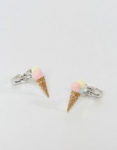Запонки с отделкой в виде рожка мороженого Simon Carter - Мульти
