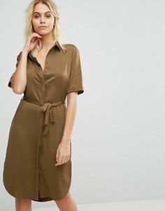 Платье-рубашка Glamorous - Медный