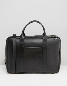 Кожаная сумка для ноутбука Royal Republiq Ground - Черный