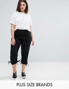 Джоггеры с затягивающимися шнурками и сетчатыми карманами Pink Clove - Черный