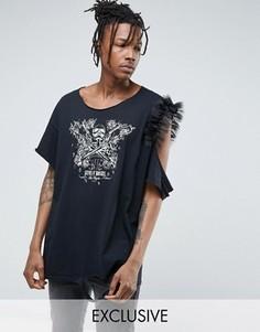 Черная свободная футболка с принтом Guns N Roses Reclaimed Vintage Inspired - Черный