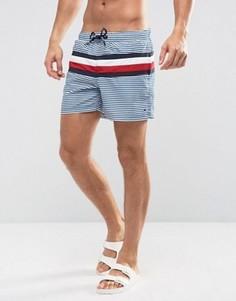 Синие шорты для плавания с фирменными полосками Tommy Hilfiger - Синий