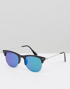 Синие солнцезащитные очки в стиле ретро 7X - Черный