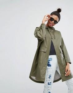 Куртка-дождевик в стиле милитари Monki - Зеленый